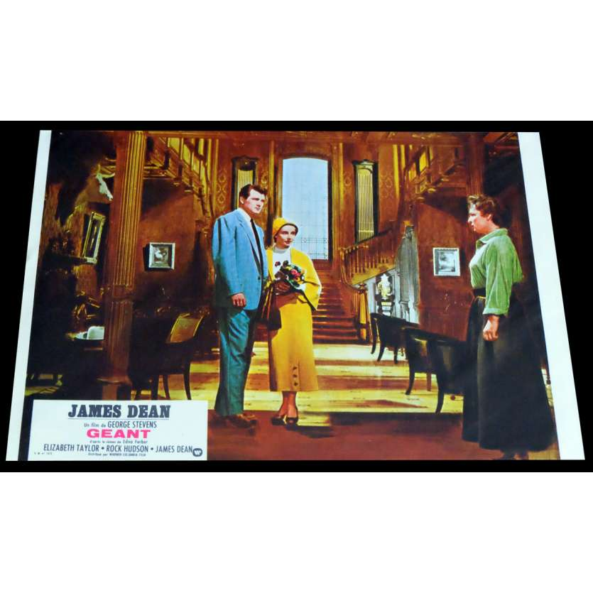 GIANT French Lobby Card 4 - C5 9x12 - R1970 - George Stevens, James Dean