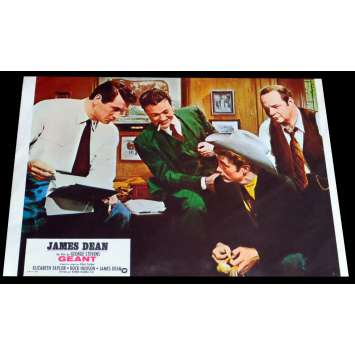 GIANT French Lobby Card 3 - C5 9x12 - R1970 - George Stevens, James Dean