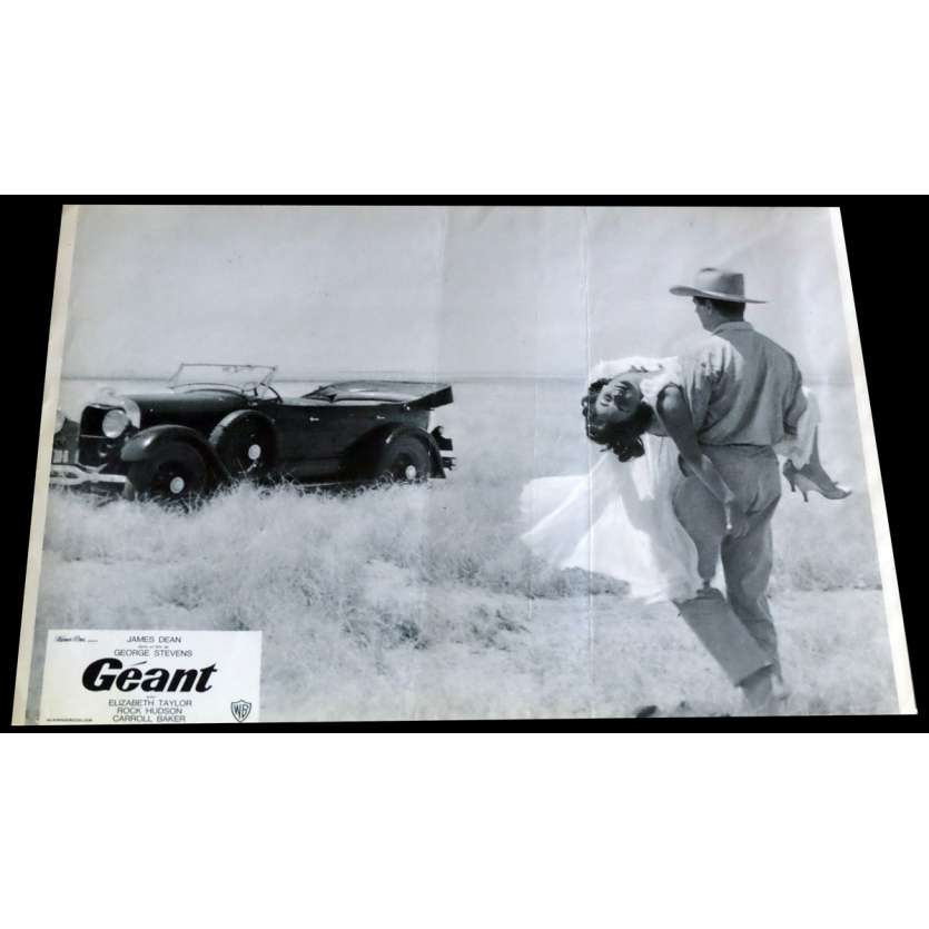 GIANT French Lobby Card 1 - C5 9x12 - R1970 - George Stevens, James Dean