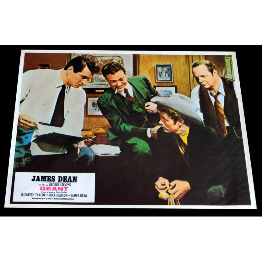 GIANT French Lobby Card 5 9x12 - R1970 - George Stevens, James Dean