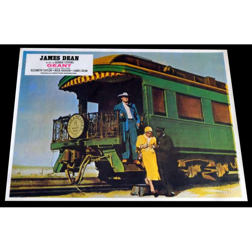 GIANT French Lobby Card 4 9x12 - R1970 - George Stevens, James Dean