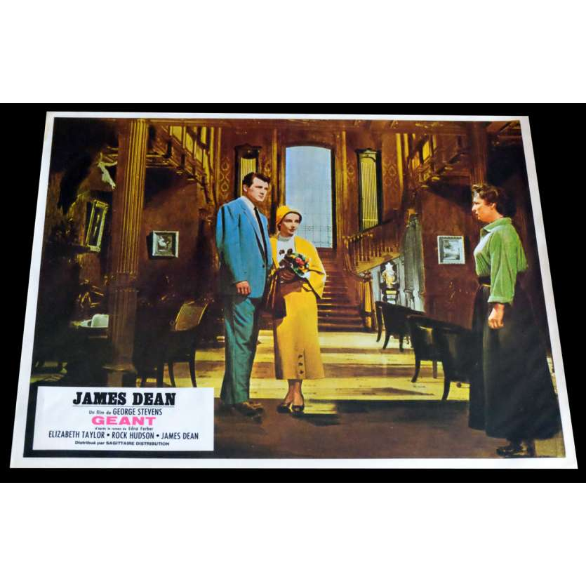 GIANT French Lobby Card 3 9x12 - R1970 - George Stevens, James Dean