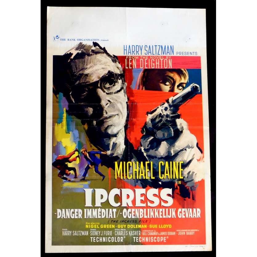 THE IPCRESS FILE Belgian Movie Poster 14x22 - 1965 - Sidney J. Furie, Michael Caine
