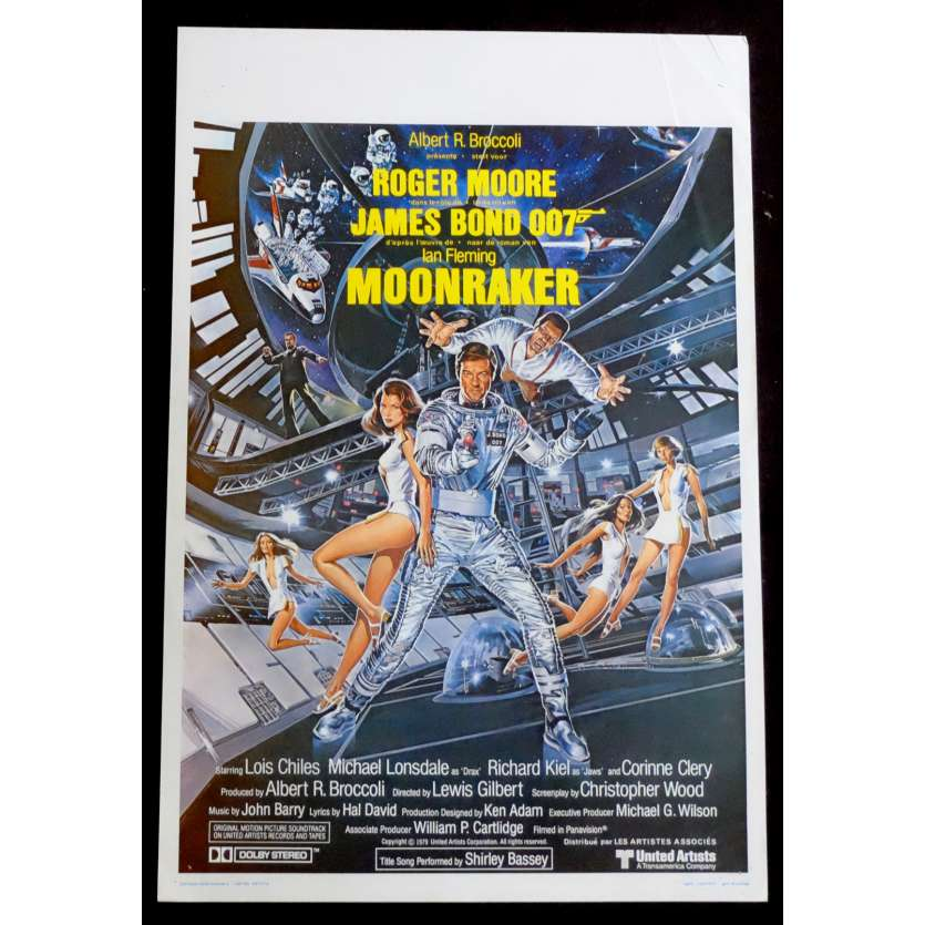 MOONRAKER Belgian Movie Poster 14x22 - 1979 - Lewis Gilbert, Roger Moore