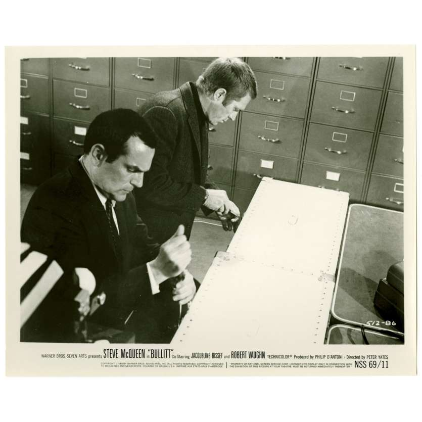 BULLITT US Movie Still 8x10 - 1968 - Peter Yates, Steve McQueen