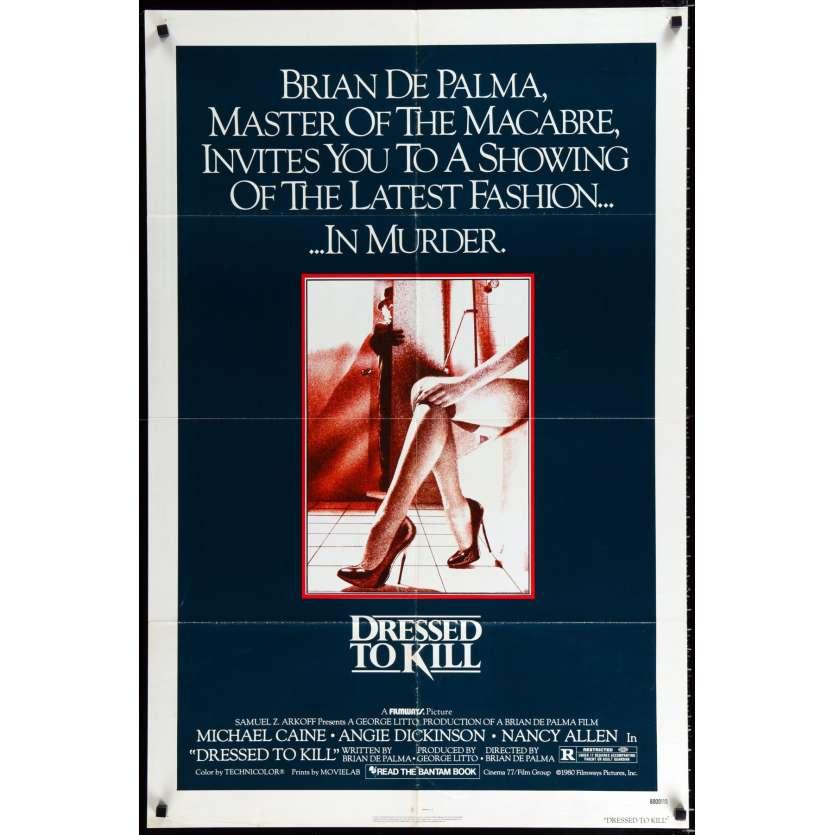 DRESSED TO KILL US Movie Poster 29x41 - 1980 - Brian de Palma, John Travolta