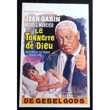 THE THUNDER OF GOD Belgian Movie Poster 14x22 - 1965 - Denys de La Patellière, Jean Gabin