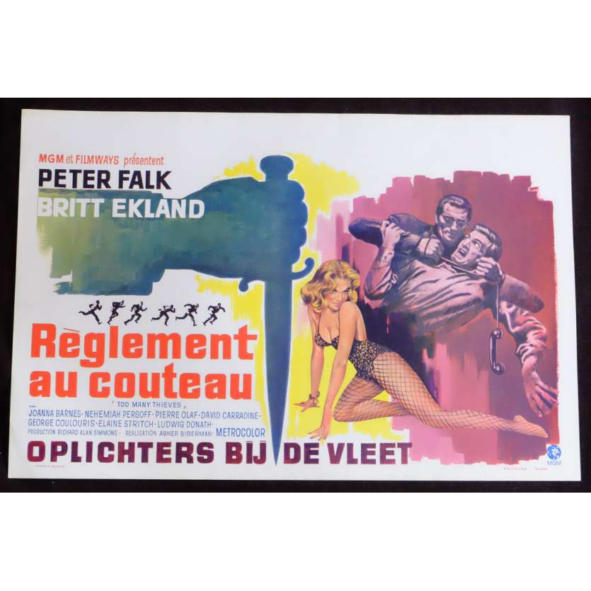 TOO MANY THIEVES Belgian Movie Poster 14x22 - 1967 - Abner Biberman, Peter Falk