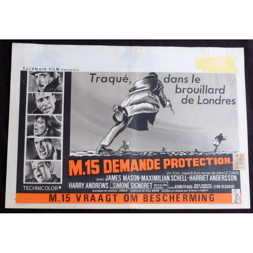 M.15 DEMANDE PROTECTION Affiche de film 35X55 - 1966 - James Mason, Sidnet Lumet