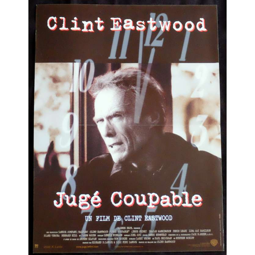 JUGE COUPABLE Affiche de film 40x60 - 1999 - Clint Eastwood, Clint Eastwood