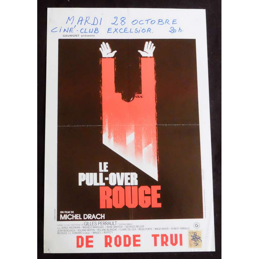THE RED SWEATER Belgian Movie Poster 14x22 - 1979 - Michel Drach, Serge Avedikian