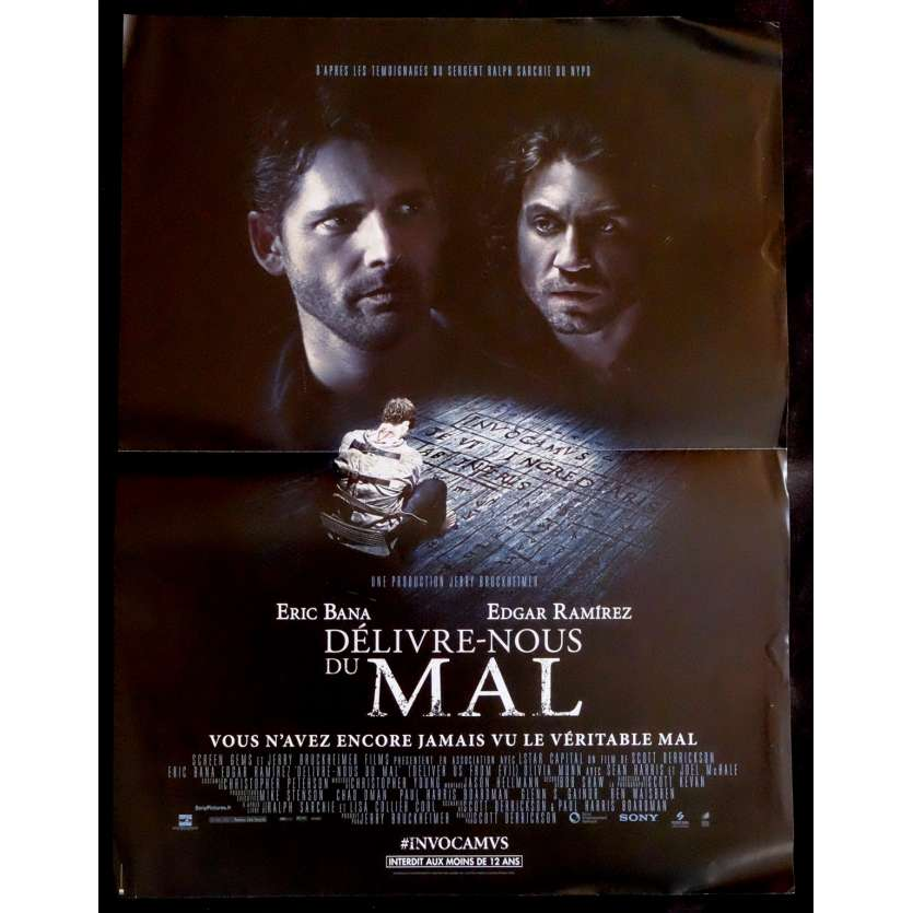 DELIVRE NOUS DU MAL French Movie Poster 15x21 - 2014 - Scott Derrickson, Eric Bana