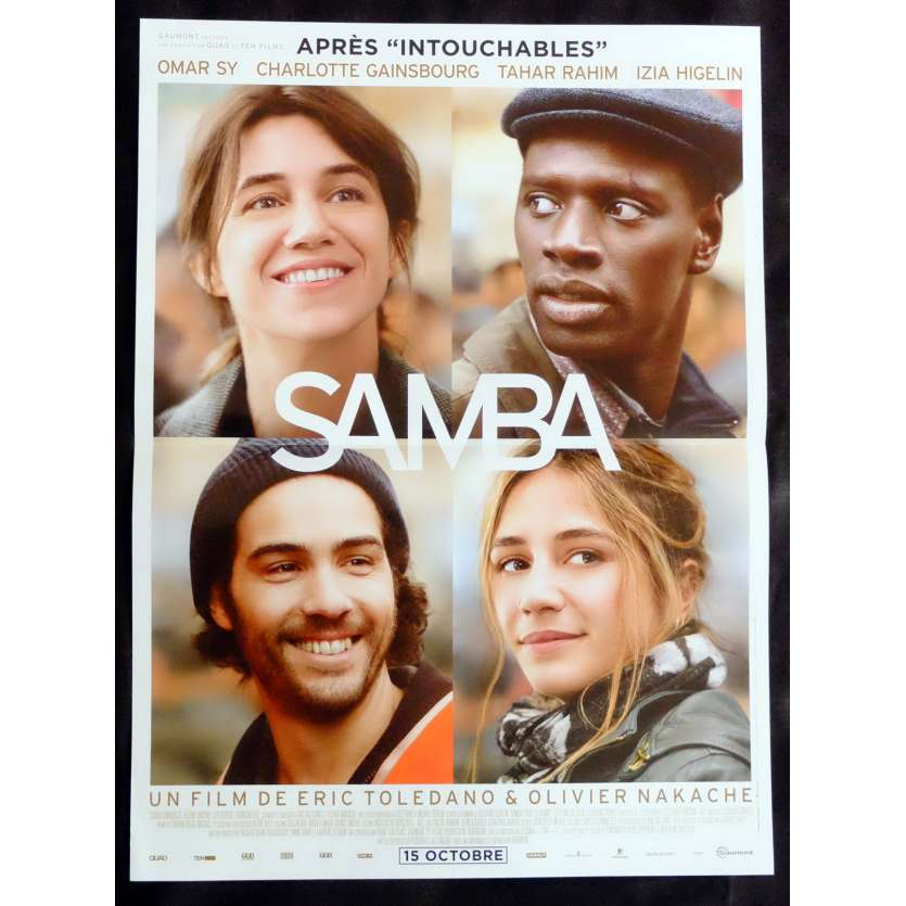 SAMBA French Movie Poster 15x21 - 2014 - Eric Toledano, Omar Sy