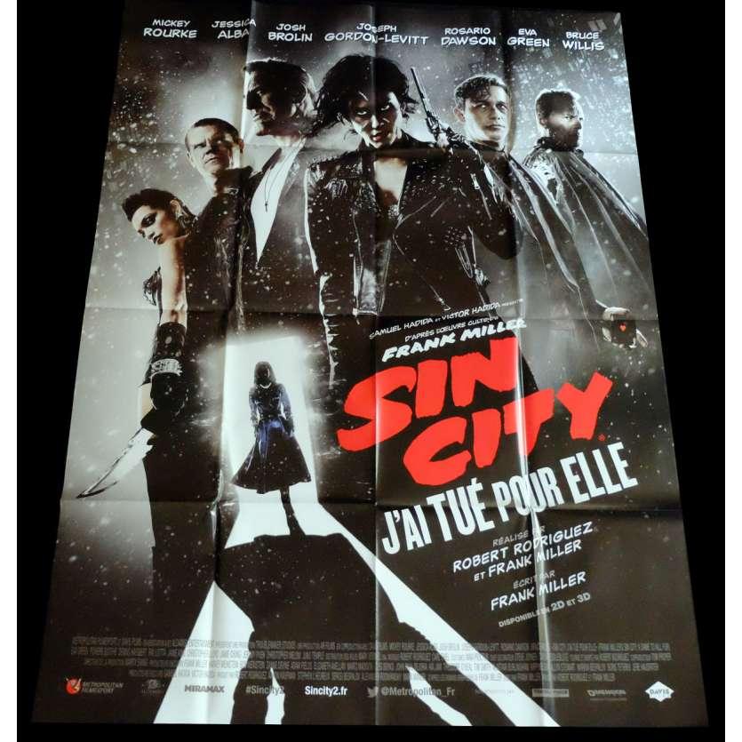 SIN CITY 2 Affiche de film 120x160 - 2014 - Mickey Rourke, Roberto Rodriguez