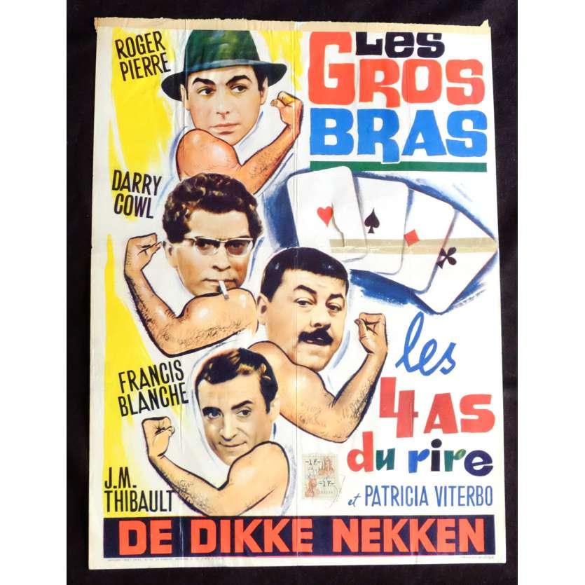 LES GROS BRAS Affiche de film 35x55 - 1964 - Francis Blanche, Francis Rigaud