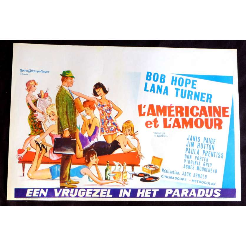 BACHELOR IN PARADISE Belgian Movie Poster 14x21 - 1961 - Jack Arnold, Lana Turner