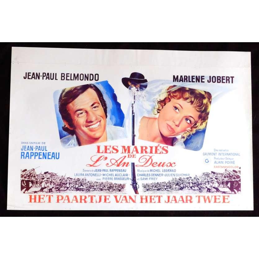 LES MARIES DE L'AN DEUX Affiche de film 35x55 - 1971 - Jean-Paul Belmondo, Jean-Paul Rappeneau