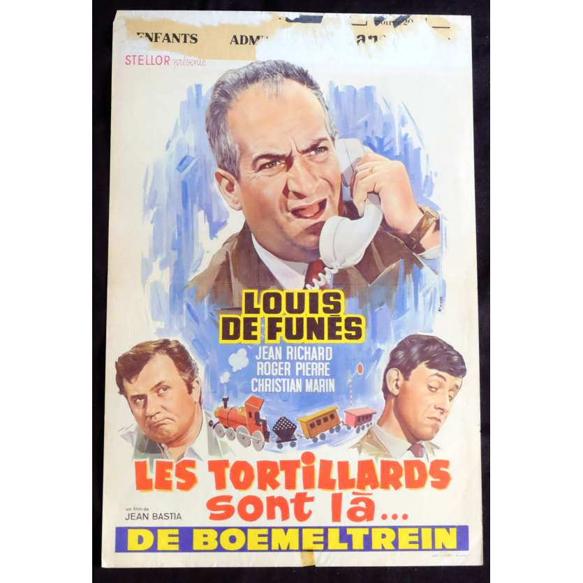 LES TORTILLARDS Belgian Movie Poster 14x21 - 1960 - Roger Pierre, Louis de Funes