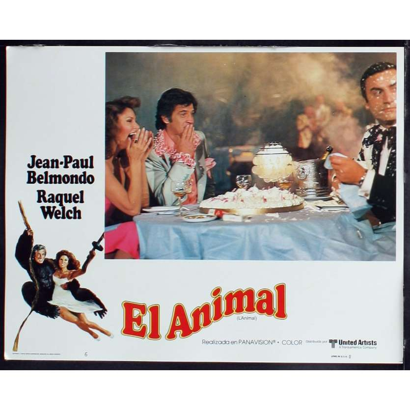 ANIMAL US Lobby Card 3 11x14 - 1977 - Claude Zidi, Jean-Paul Belmondo