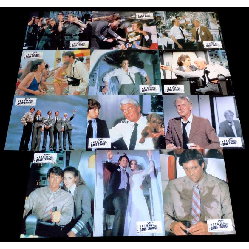 AIRPLANE 2 French Lobby Cards x12 9x12 - 1982 - Ken Finkleman, Lloyd Bridges