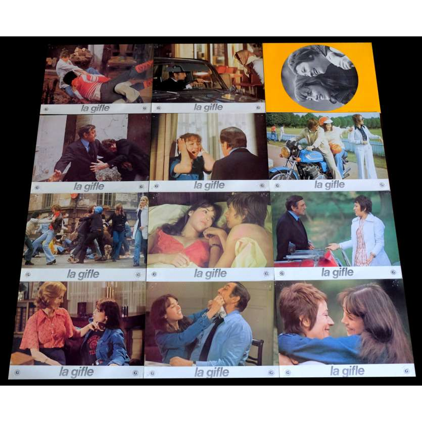THE SLAP B French Lobby Cards x10 9x12 - 1975 - Claude Pinoteau, Isabelle Adjani, Lino Ventura