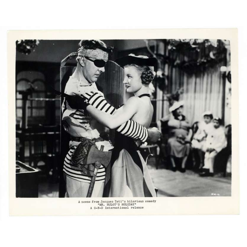 MR. HULOT'S HOLIDAY US Movie Still 8x10 - 1954 - Jacques tati, Nathalie Pascaud
