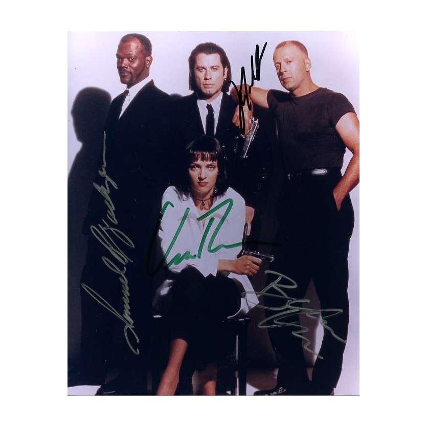 Mauvais-genres.com - PULP FICTION Photo signée par les acteurs !!