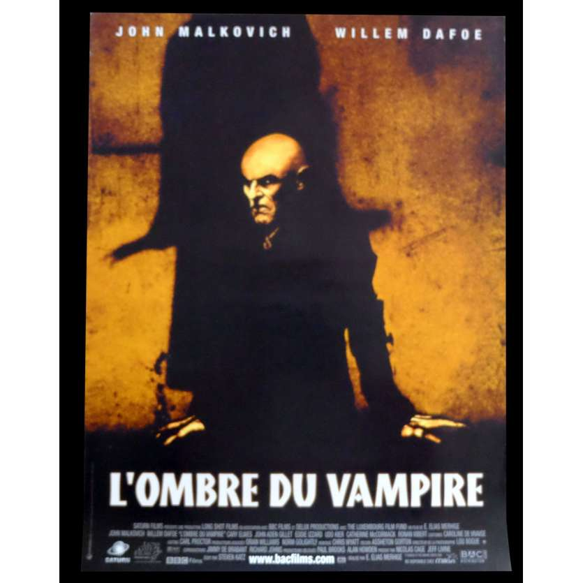 SHADOW OF THE VAMPIRE French Movie Poster - 2000 - E. Elias Merhige, Willem Dafoe