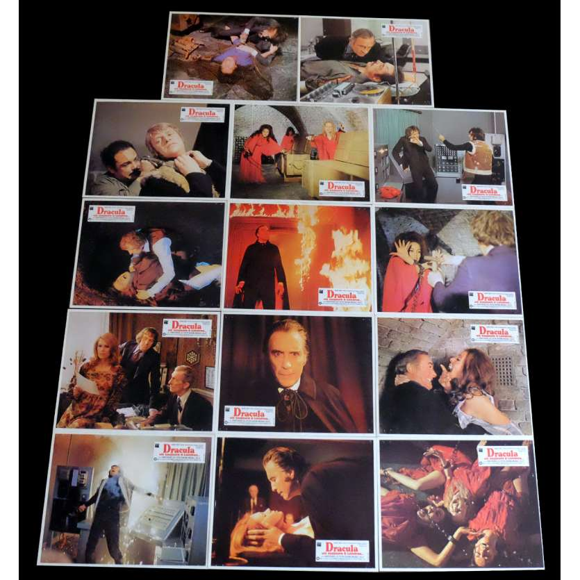 THE SATANIC RITES OF DRACULA French Lobby Cards x14 9x12 - 1973 - Alan Gibson, Christopher Lee