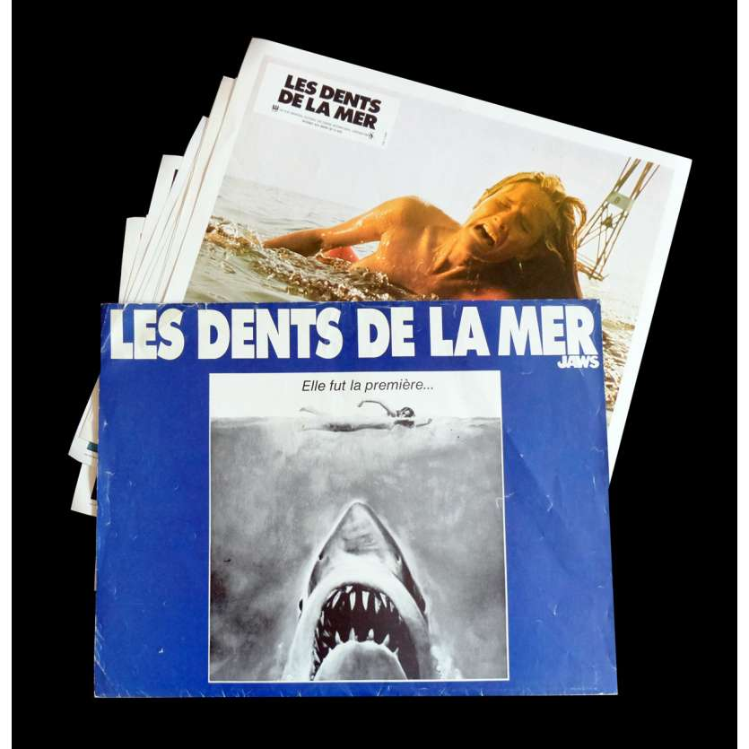 JAWS French Lobby Cards x10 9x12 - 1975 - Steven Spielberg, Roy Sheider