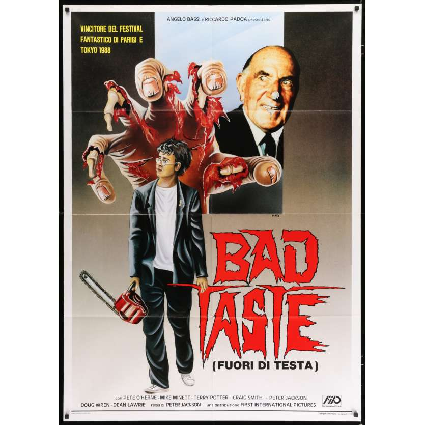 BAD TASTE Italian Movie Poster 29x41 - 1987 - Peter Jackson, Terry Potter