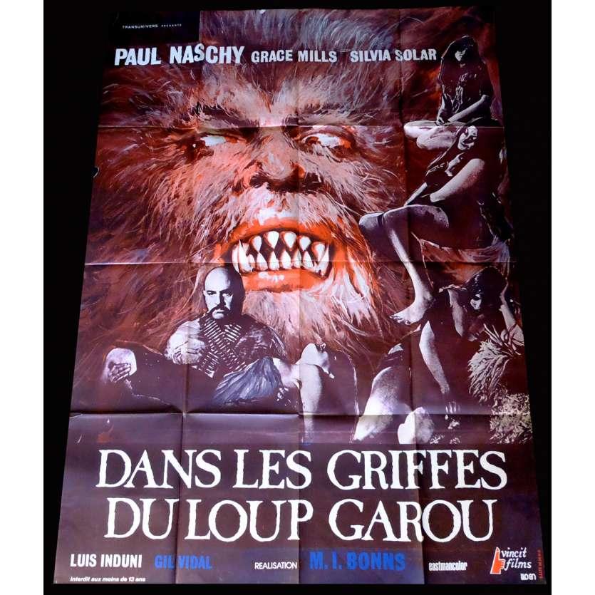 DANS LES GRIFFES DU LOUP GAROU Affiche de film 120x160 - 1975 - Paul Naschy, Miguel Iglesias