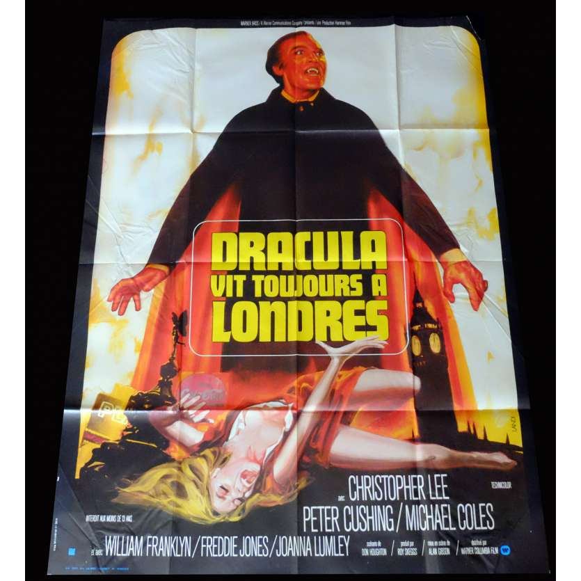 THE SATANIC RITES OF DRACULA (A) French Movie Poster 20x28 - 1973 - Alan Gibson, Christopher Lee