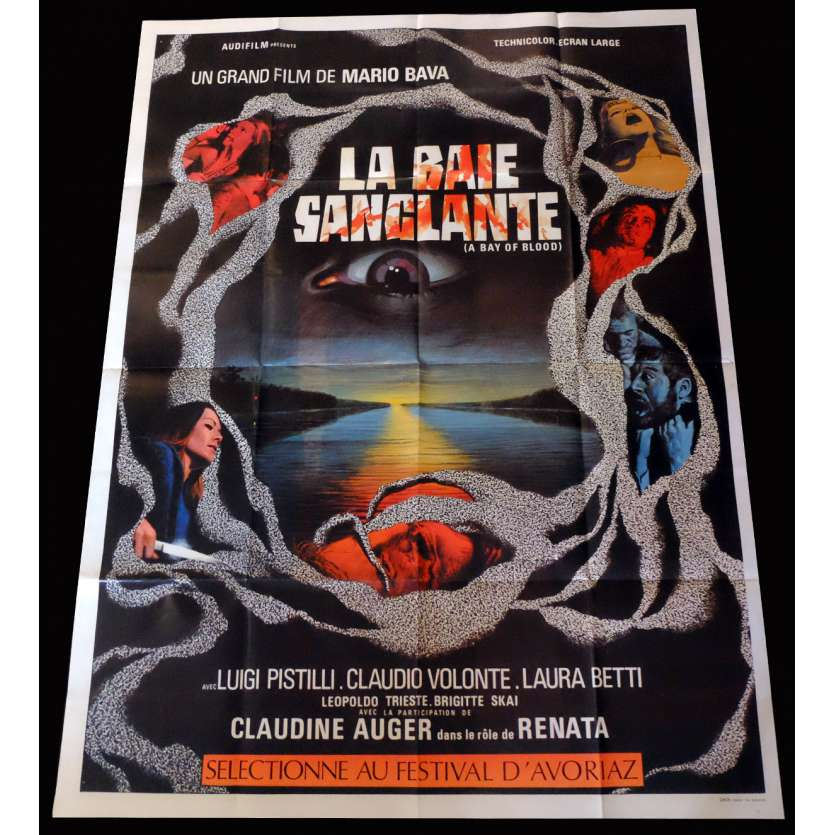 A BAY OF BLOOD French Movie Poster 47x63 - 1971 - Mario Bava, Claudine Auger