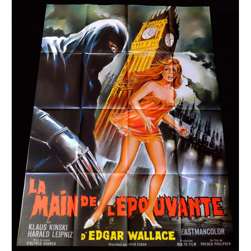 CREATURE WITH THE BLUE HAND French Movie Poster 47x63 - 1967 - Alfred Vohrer, Samuel M. Sherman, Harald Leipnitz