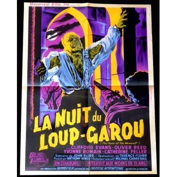 LA NUIT DU LOUP-GAROU Affiche de film 60x80 - 1961 - Terence Fisher, Hammer
