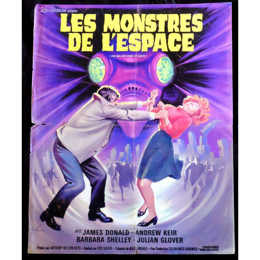 QUATERMASS AND THE PIT French Movie Poster 15x21 - 1967 - Roy Ward Baker, Hammer