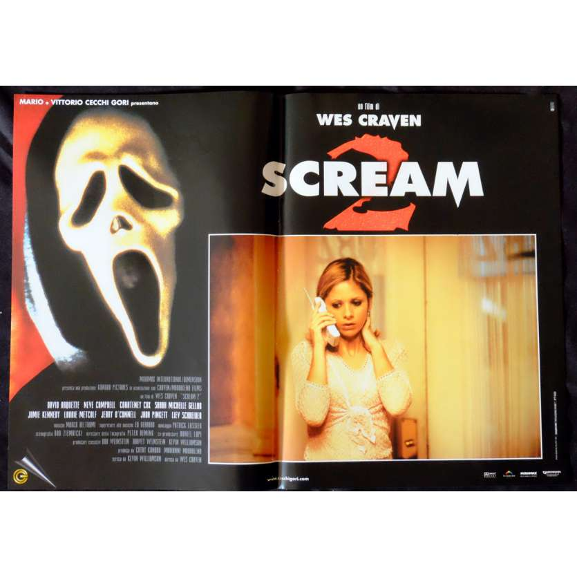 SCREAM Italian Photobustas x6 13x20 - 1996 - Wes Craven, Courtney Cox