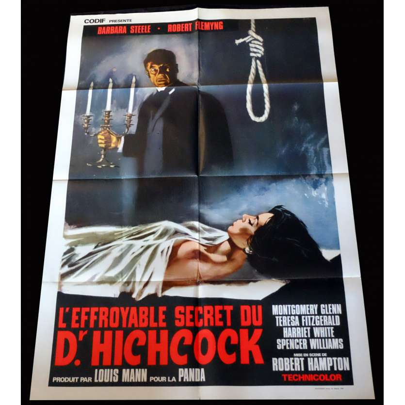 L'EFFROYABLE SECRET DU DR. HITCHCOCK Affiche de film 100x140 - 1962 - Barbara Steele, Riccardo Freda