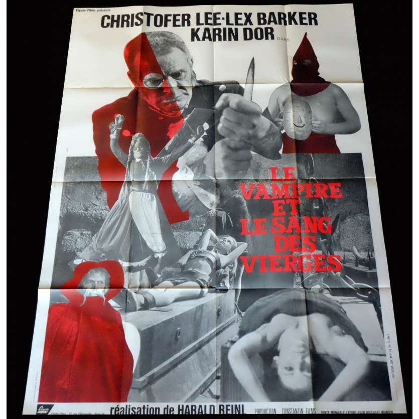 THE BLOOD DEMON French Movie Poster 47x63 - 1967 - Harald Reinl, Lex Baker