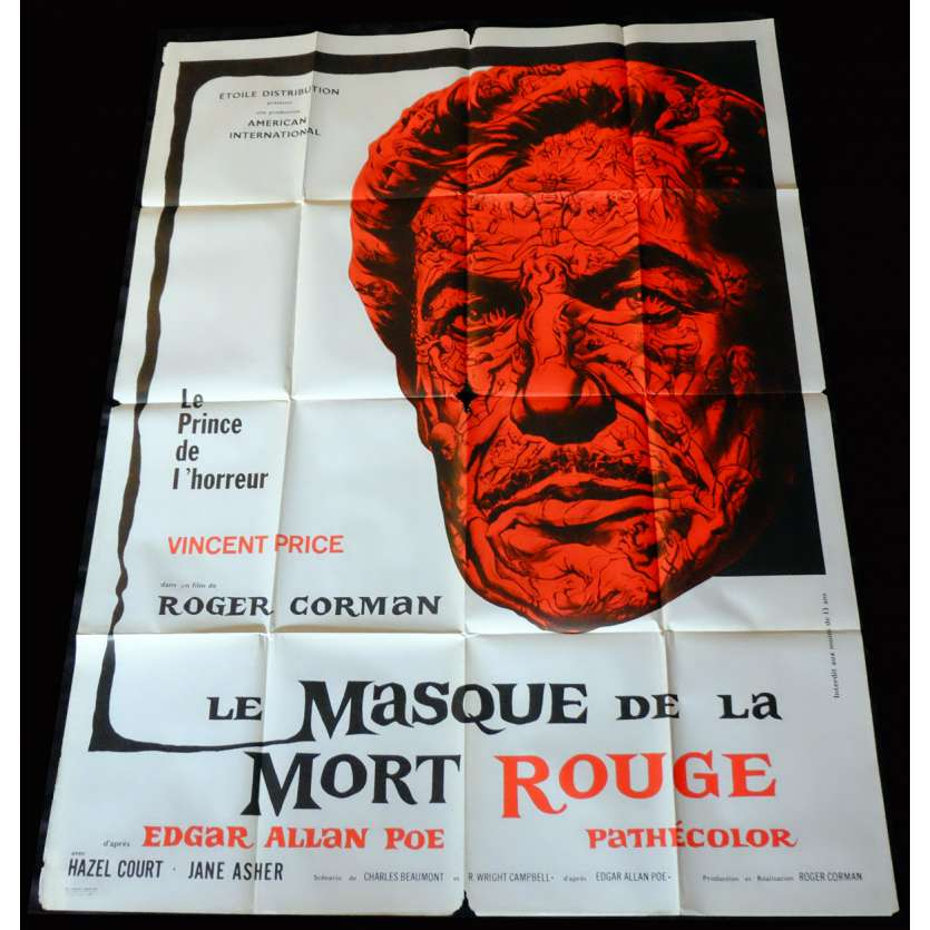 THE MASQUE OF THE RED DEATH French Movie Poster 47x63 - 1964 - Roger Corman, Vincent Price