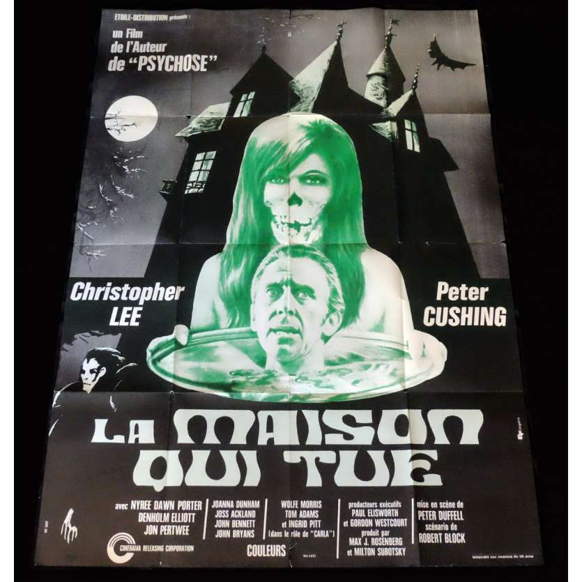THE HOUSE THAT DRIPPED BLOOD French Movie Poster 47x63 - 1971 - Peter Duffell, Christopher Lee