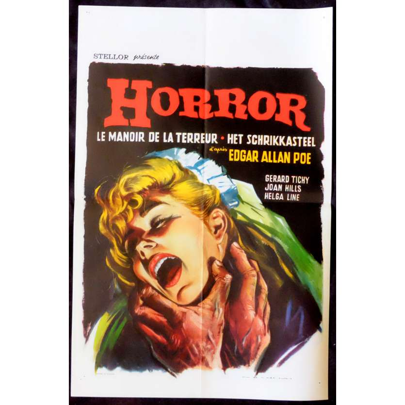 HORROR Belgian Movie Poster 14x20 - 1963 - Alberto de Martino, Gérard Tichy