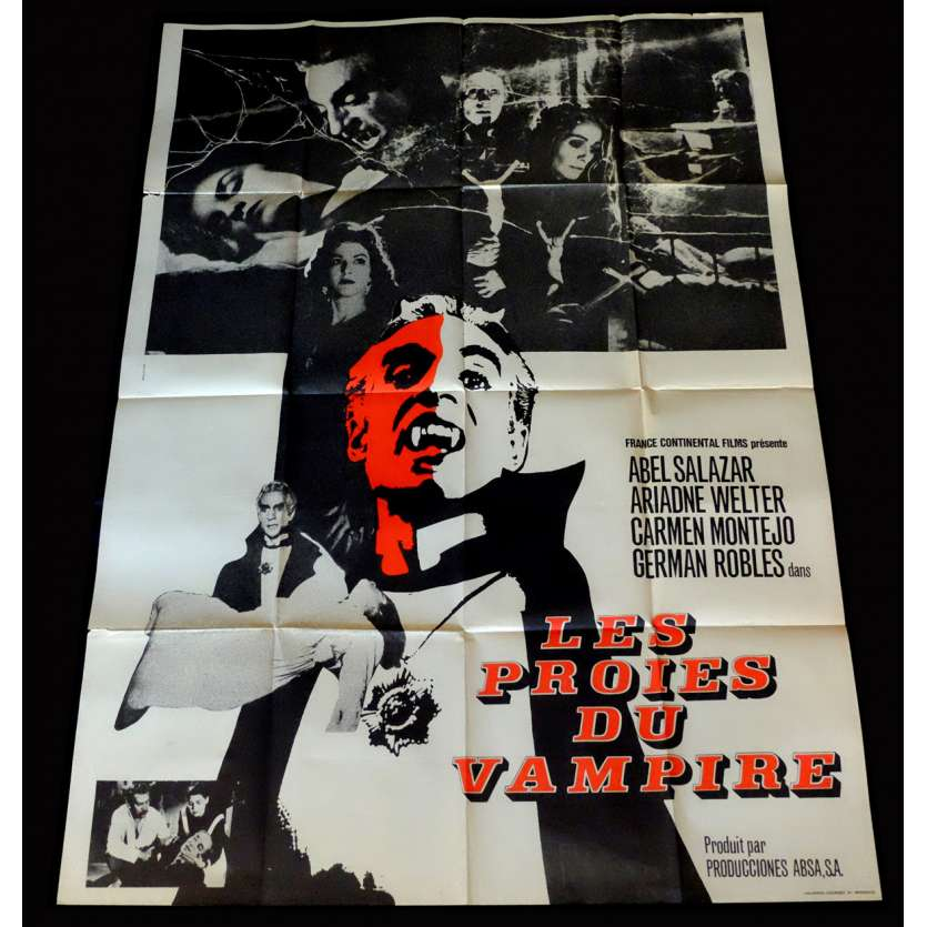 THE VAMPIRE French Movie Poster 47x63 - 1957 - Fernando Mendez, Abel Salazar
