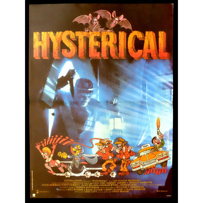 HYSTERICAL French Movie Poster 15x21 - 1983 - Chris Bearde, Bill Hudson