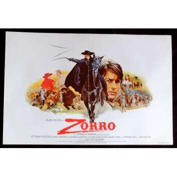 ZORRO Belgian Movie Poster 14x20 - 1975 - Duccio Tessari, Alain Delon