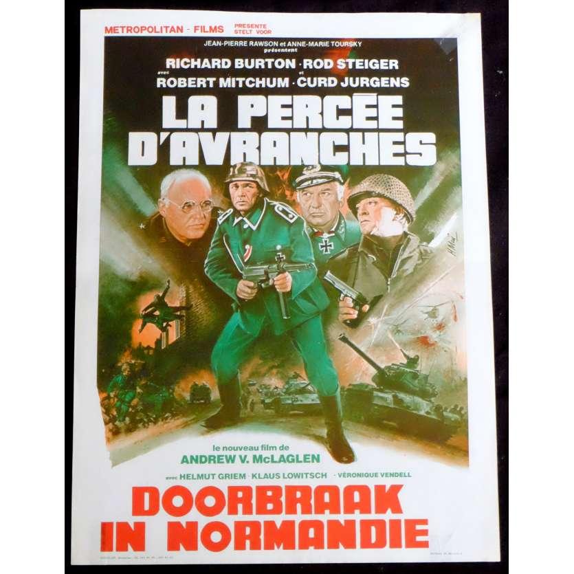 LA PERCEE D'AVRANCHE Affiche de film 35x55 - 1979 - Richard Burton, Andrew V. McLaglen