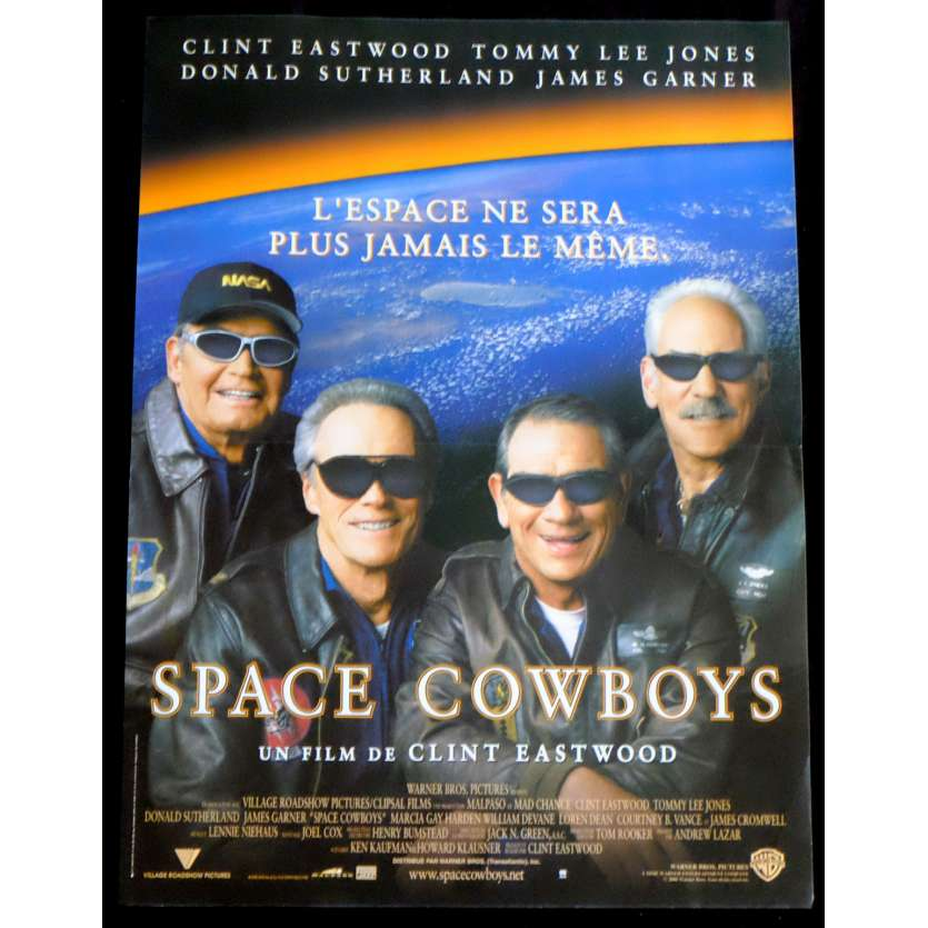 SPACE COWBOYS French Movie Poster 15x21 - 2000 - Clint Eastwood, Tommy Lee Jones