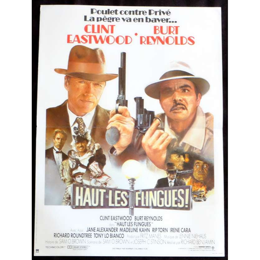 HAUT LES FLINGUES Affiche de film 40x60 - 1984 - Clint Eastwood, Richard Benjamin