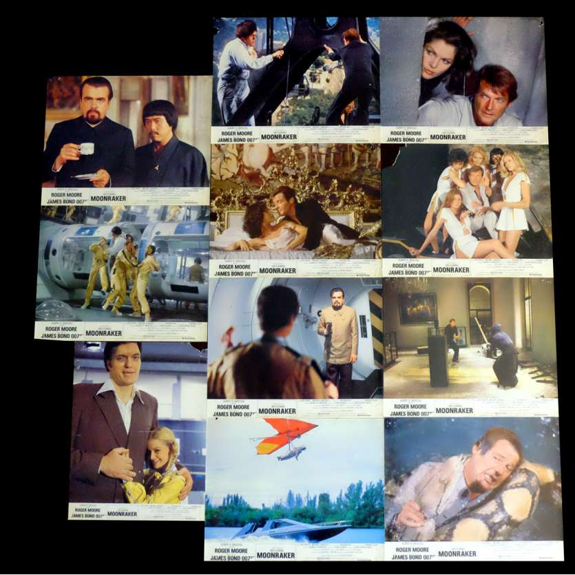 MOONRAKER French Lobby cards 9x12 - 1979 - Lewis Gilbert, Roger Moore